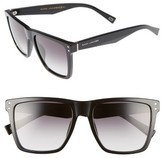 Marc Jacobs Women's 54Mm Flat Top Gradient Square Frame Sunglasses - Black