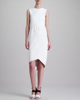 Narciso Rodriguez Sleeveless Draped Dress, White