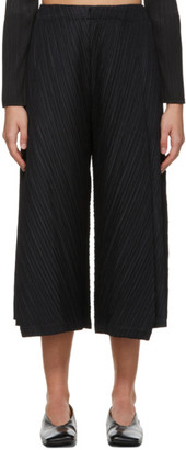 Pleats Please Issey Miyake Black Thicker Flared Trousers