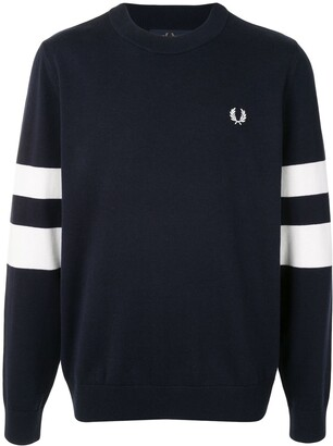 Fred Perry Striped Logo Pullover