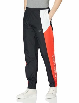 Calvin Klein Jeans Men's Color Block Track Nylon Pant Trousers