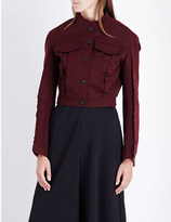 Yang Li Inverted-seam cropped denim jacket