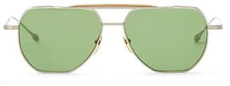 Jacques Marie Mage Brion Aviator Titanium Sunglasses - Silver