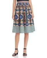 Max Mara Cellula Printed Skirt