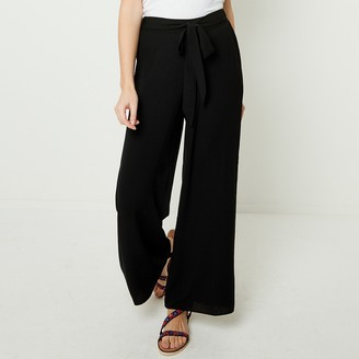 Joe Browns Wide Leg Draping Trousers with Tie Waist