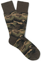 Beams Camouflage Knitted Socks - Green
