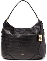 Ralph Lauren Hally Embossed Leather Hobo
