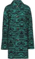 Just Cavalli Printed Textured-Wool Coat