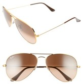 Ray-Ban Women's Standard Original 58Mm Aviator Sunglasses - Black
