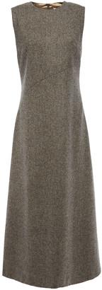 Maison Margiela Cutout Herringbone Wool-jacquard Midi Dress
