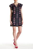 Jessica Simpson Floral Lace-Up Mini Dress