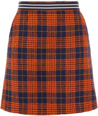 Paul Smith Checked Tweed Mini Skirt