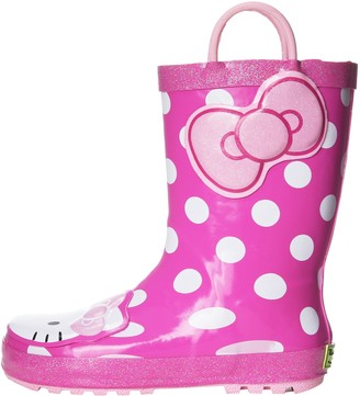 Western Chief Girl's Waterproof Character Rain Boots with Easy on Handles