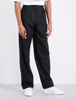 Raf Simons Wide-leg cropped wool trousers