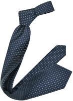 Forzieri Micro Square Dots Woven Silk Tie
