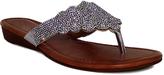 Fashion Focus Silver Wide-Strap Tiffany Sandal