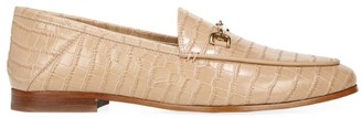 Sam Edelman Loraine Croc-Embossed Leather Loafers
