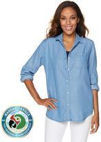Margaritaville Button-Front Lyocell Easy Shirt