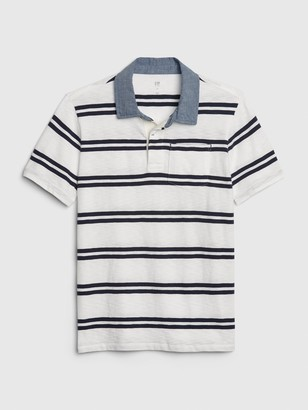 Gap Kids Chambray Polo Shirt Shirt