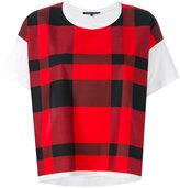 Sofie D'hoore checked T-shirt - women - Cotton - 36