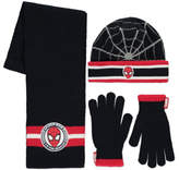 George Marvel Spider-Man 3 Piece Hat, Scarf and Gloves Set