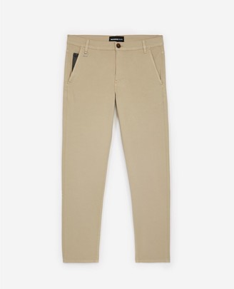 The Kooples Beige cotton trousers w/leather coin pocket