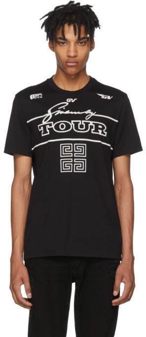 Givenchy Black GV Tour Jersey T-Shirt