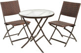 Asstd National Brand Caracas 3-pc. Wicker Outdoor Folding Table and Chair Set