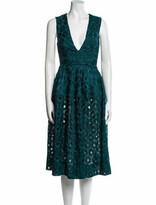 Thumbnail for your product : Nicholas Lace Pattern Midi Length Dress Blue