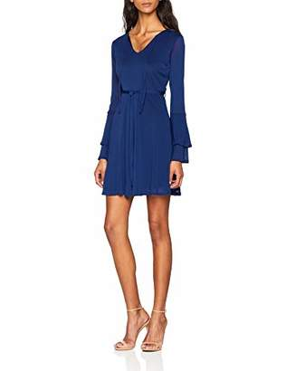 Yumi Women's Double Trumpet Sleeve Dress,8