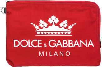 Dolce & Gabbana Printed Logo Zip Clutch