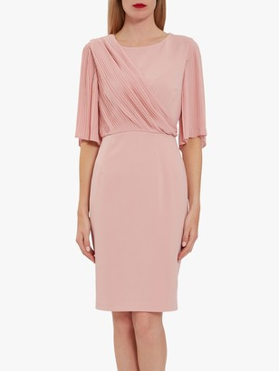 Gina Bacconi Wilhelmina Chiffon Pleated Dress