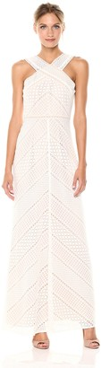 BCBGMAXAZRIA Azria Women's Bernadette Woven Halter Lace Dress
