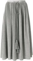 Veronique Branquinho pleated tassel drawstring skirt