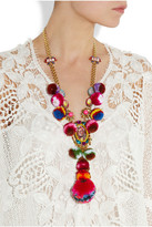 Swarovski MARIO TESTINO FOR MATE by VICKISARGE gold-plated, crystal and pompom necklace