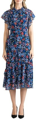 Shoshanna Thalia Floral Midi Dress