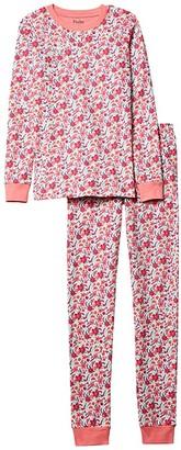 Hatley Summer Garden Organic Cotton PJ Set (Toddler/Little Kids/Big Kids) (Pink) Girl's Pajama Sets