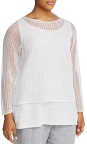 Eileen Fisher Plus Layered Look Sweater