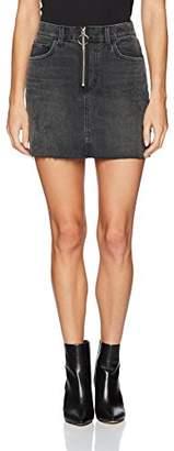 Siwy Women's Madonna Mini Skirt in Black Vintage Cadillac