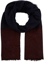 Colombo MEN'S CHECKED CASHMERE-SILK FLANNEL SCARF