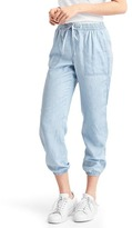 Gap TENCEL railroad stripe utility joggers