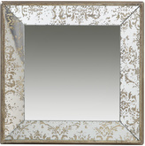 A&B Home Distressed Square Mirror