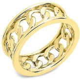 Thumbnail for your product : Sterling Forever 14K Gold Vermeil Curb Chain Band Ring/Size 8