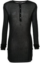 Ann Demeulemeester button placket jumper