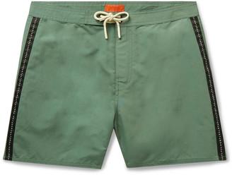Saturdays NYC Mid-Length Logo-Appliqued Swim Shorts