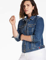 Lucky Brand Plus Size Denim Trucker Jacket In Tanoak
