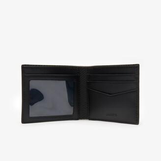 Lacoste Men's Chantaco Pique Leather 3 Card Wallet