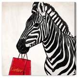 Oliver Gal Expensive Zebra Canvas Wall Art