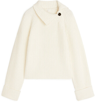 Arket High-Neck Wool-Blend Jumper