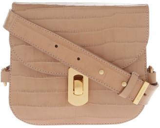 Coccinelle Zaniah Croco Flap Over Crossbody Bag